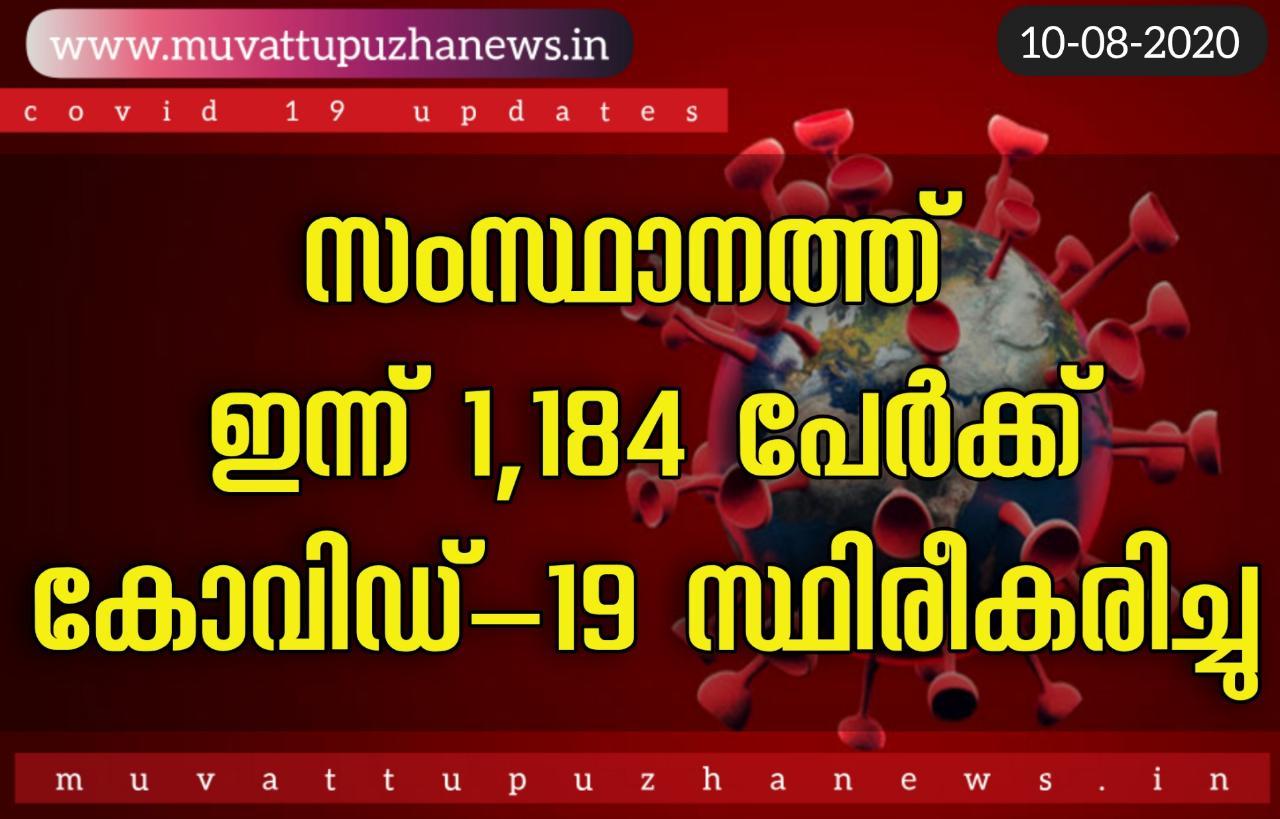 Photo of സംസ്ഥാനത്ത് ഇന്ന് 1184 പേർക്ക് കോവിഡ് സ്ഥിരീകരിച്ചു. 784 പേർ  രോഗമുക്തർ ആയി.