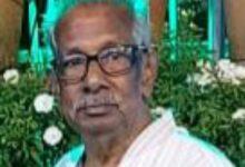 Photo of കോവിഡ് ചികിത്സയിലായിരുന്ന കടാതി സ്കൂളിലെ പൂർവ്വ അധ്യാപകൻ മരിച്ചു.